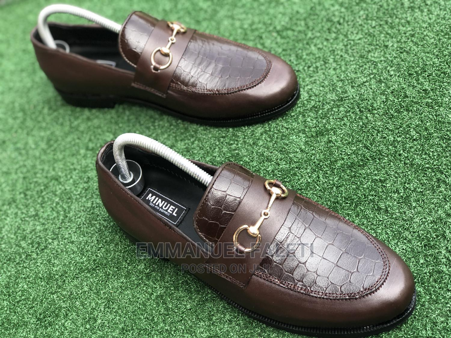 . Coffee Brown Loafers With Chain | Shoes for sale in Mushin, Lagos State, Nigeria