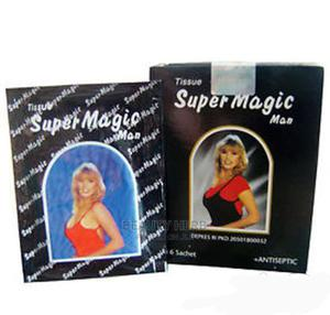 Super Magic Man Ejaculation Delay Tissue for ( Men )   Sexual Wellness for sale in Abuja (FCT) State, Lugbe District