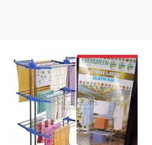 Evergreen 3 Layers Cloth Rack | Children's Furniture for sale in Nasarawa State, Karu-Nasarawa