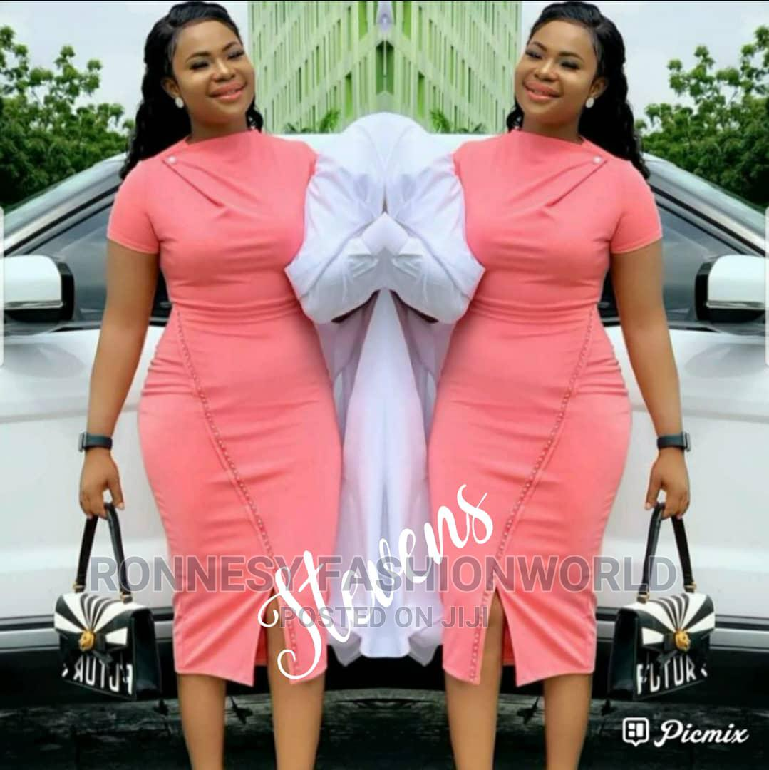 Classic Trendy Female Quality Fitted Gown | Clothing for sale in Ikeja, Lagos State, Nigeria