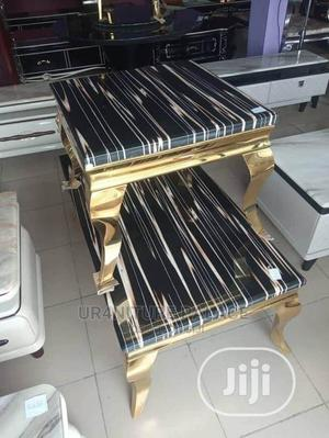 Set of Marble Top Centre Table and Two Stools | Furniture for sale in Lagos State, Ojo