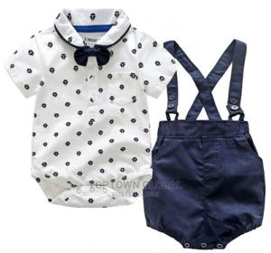 Baby Boy Bodysuit and Suspender Short Set for 1year Birthday | Children's Clothing for sale in Lagos State, Amuwo-Odofin