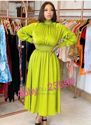 New Quality Female Lemon Long Gown | Clothing for sale in Lagos State, Ikeja