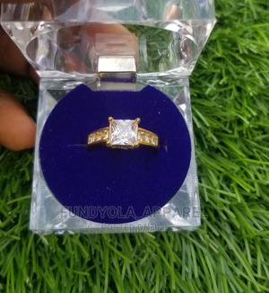 Gold Steel Engagement Proposal Ring | Wedding Wear & Accessories for sale in Lagos State, Ajah