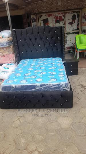 4 and Half By6 Upholstery Bed With 10inches Quality Mattres | Furniture for sale in Lagos State, Ojo