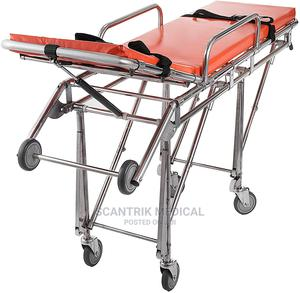 Hospital Loading Ambulance Stretcher With Drip Stand | Medical Supplies & Equipment for sale in Abuja (FCT) State, Guzape District