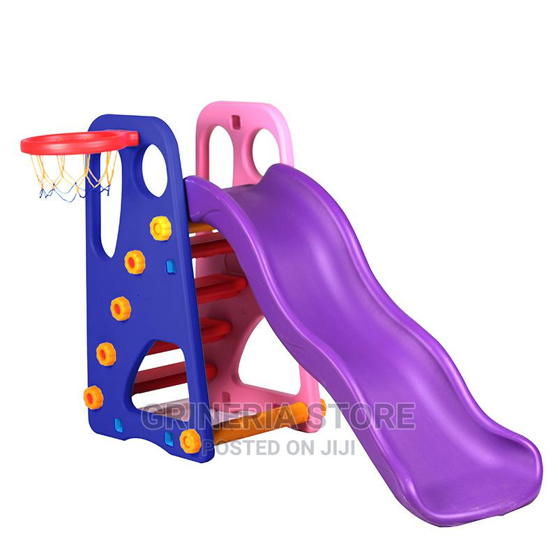 Slide With Hoop For School Play Ground