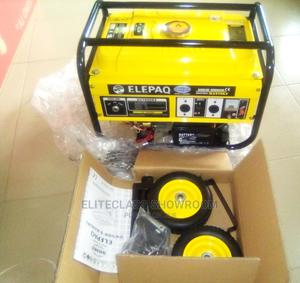 Elepaq 5kva Automatic Gen With Tyre, Key and Handle | Electrical Equipment for sale in Lagos State, Alimosho