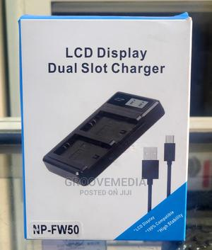 Sony FW50 Dual Desktop Charger for Sony Mirrorless Camera   Accessories & Supplies for Electronics for sale in Lagos State, Ikeja