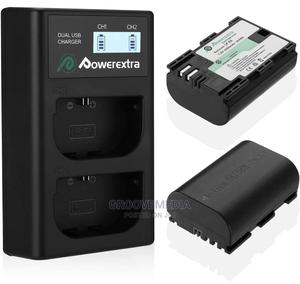 Power Extra 2pcs E6 Batteries With Dual USB Desktop Charger | Accessories & Supplies for Electronics for sale in Lagos State, Ikeja