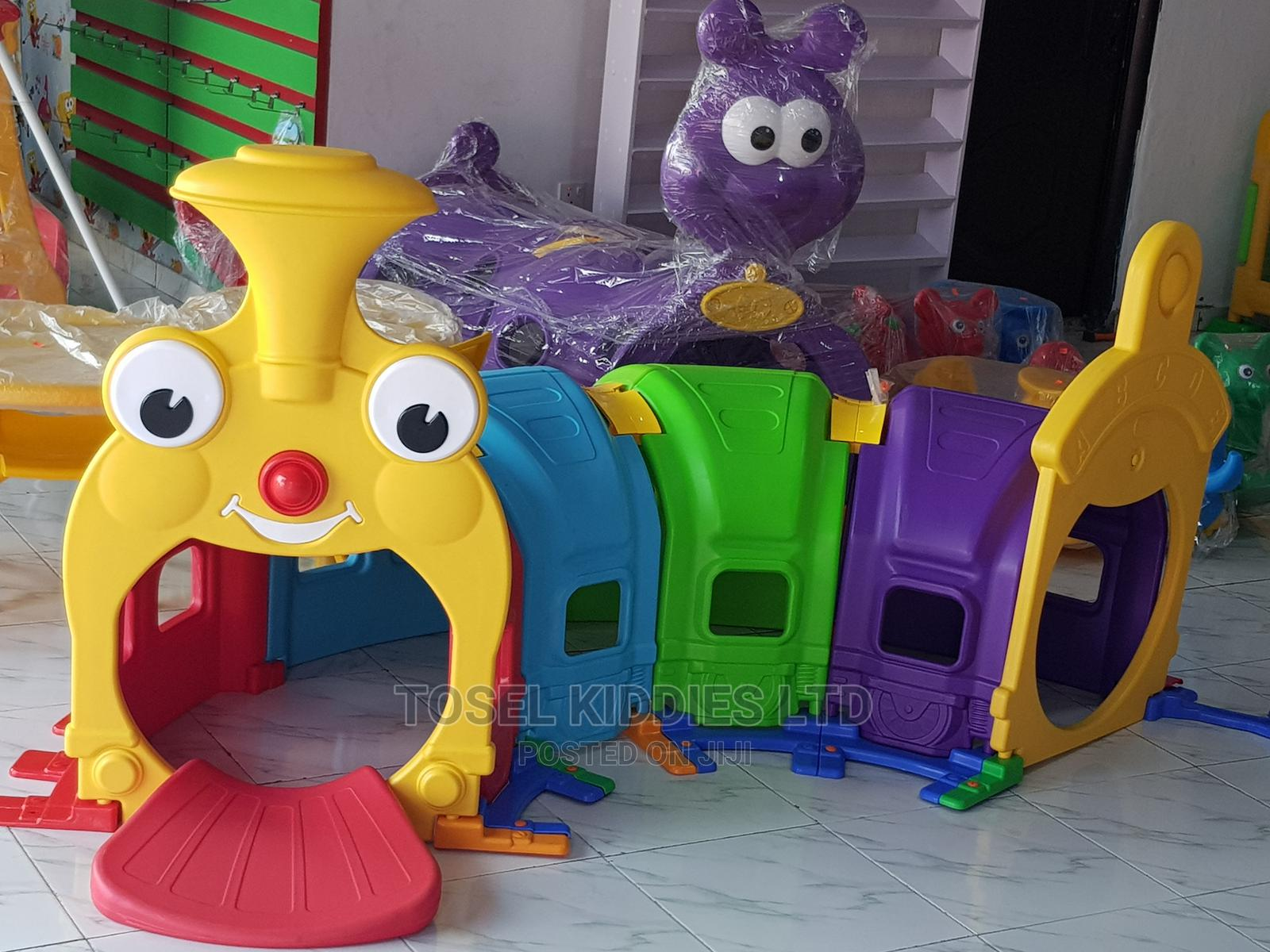 Archive: Happy Train Tunnel Playground Toy for Kids