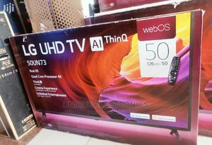 LG 50''inch FLAT 4K UHD SMART TV Magic Control Satellite | TV & DVD Equipment for sale in Lagos State, Apapa