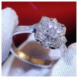 White 925 Cubic Zirconia Silver Engagement Ring   Wedding Wear & Accessories for sale in Lagos State, Surulere