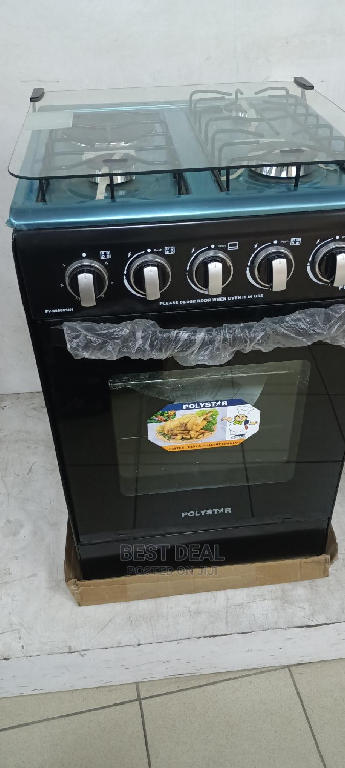 Polystar 50*50cm 3 Gas Burner 1 Electric,Oven Auto Ignition   Kitchen Appliances for sale in Ojo, Lagos State, Nigeria