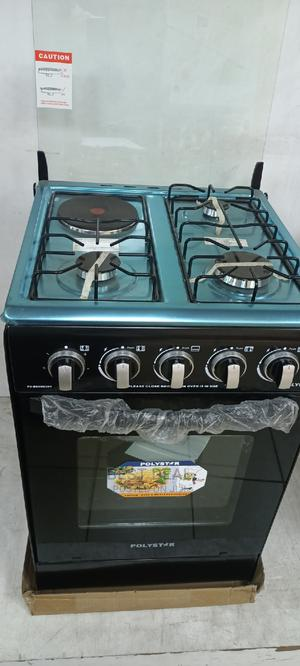 Polystar 50*50cm 3 Gas Burner 1 Electric,Oven Auto Ignition | Kitchen Appliances for sale in Lagos State, Ojo