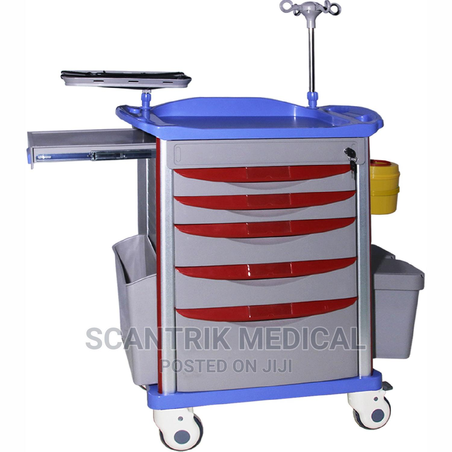 Medical Trolley With Drawers for Hospital