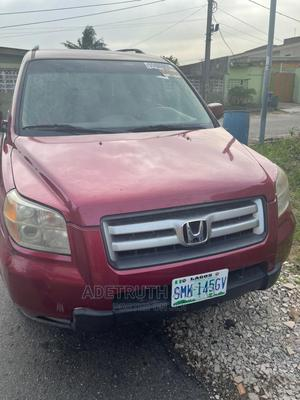 Honda Pilot 2006 EX-L 4x4 (3.5L 6cyl 5A) Red | Cars for sale in Lagos State, Ogba