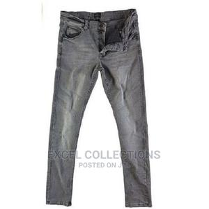 Mens Dexyer Stretch Solid Jean - Grey | Clothing for sale in Lagos State, Surulere