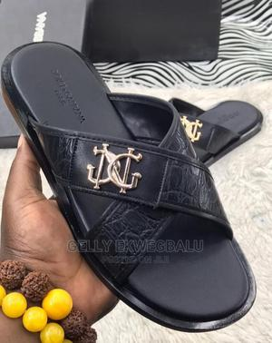 Dolce and Gabbana Designer Leather Slippers/ Palm   Shoes for sale in Lagos State, Apapa