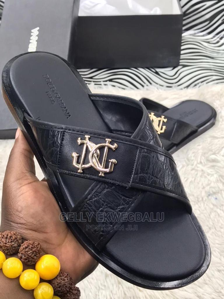 Dolce and Gabbana Designer Leather Slippers/ Palm   Shoes for sale in Apapa, Lagos State, Nigeria