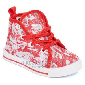 Papos Red and White High Top Sneakers   Children's Shoes for sale in Lagos State, Alimosho