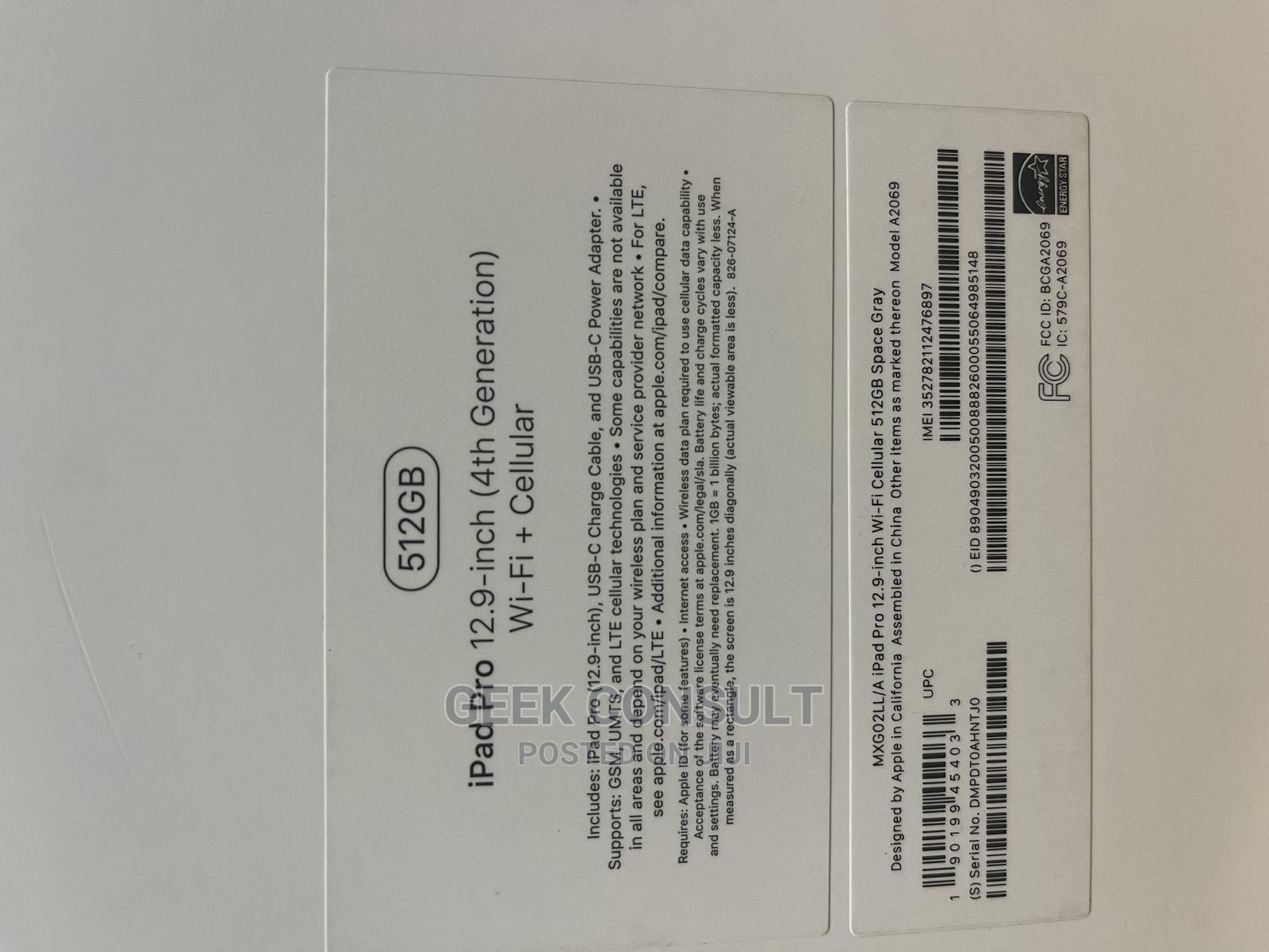 New Apple iPad Pro 12.9 (2020) 512 GB Gray | Tablets for sale in Ikeja, Lagos State, Nigeria