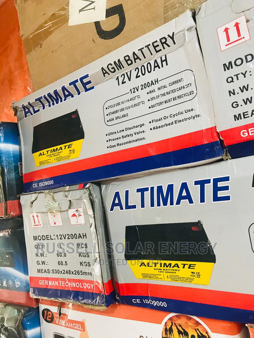 Archive: 12v 200ahs Altimate Solar Battery Available