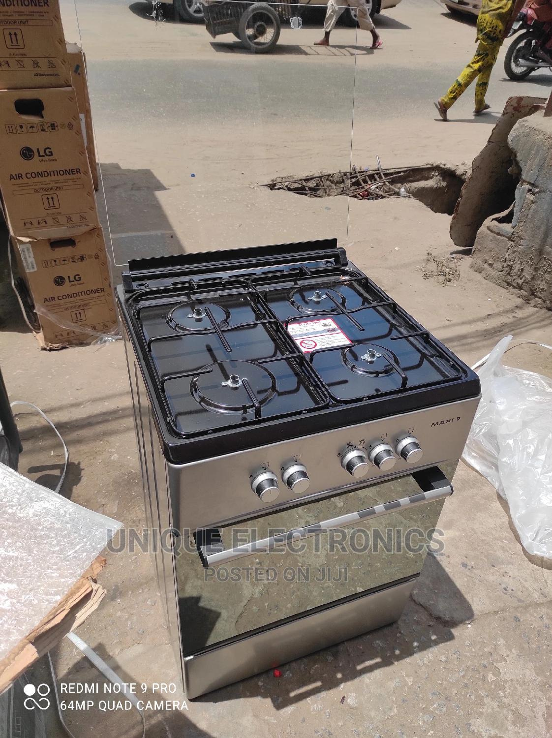 New Maxi Gas Cooker 4 Gas Auto Ignition Cooker + Oven Grill