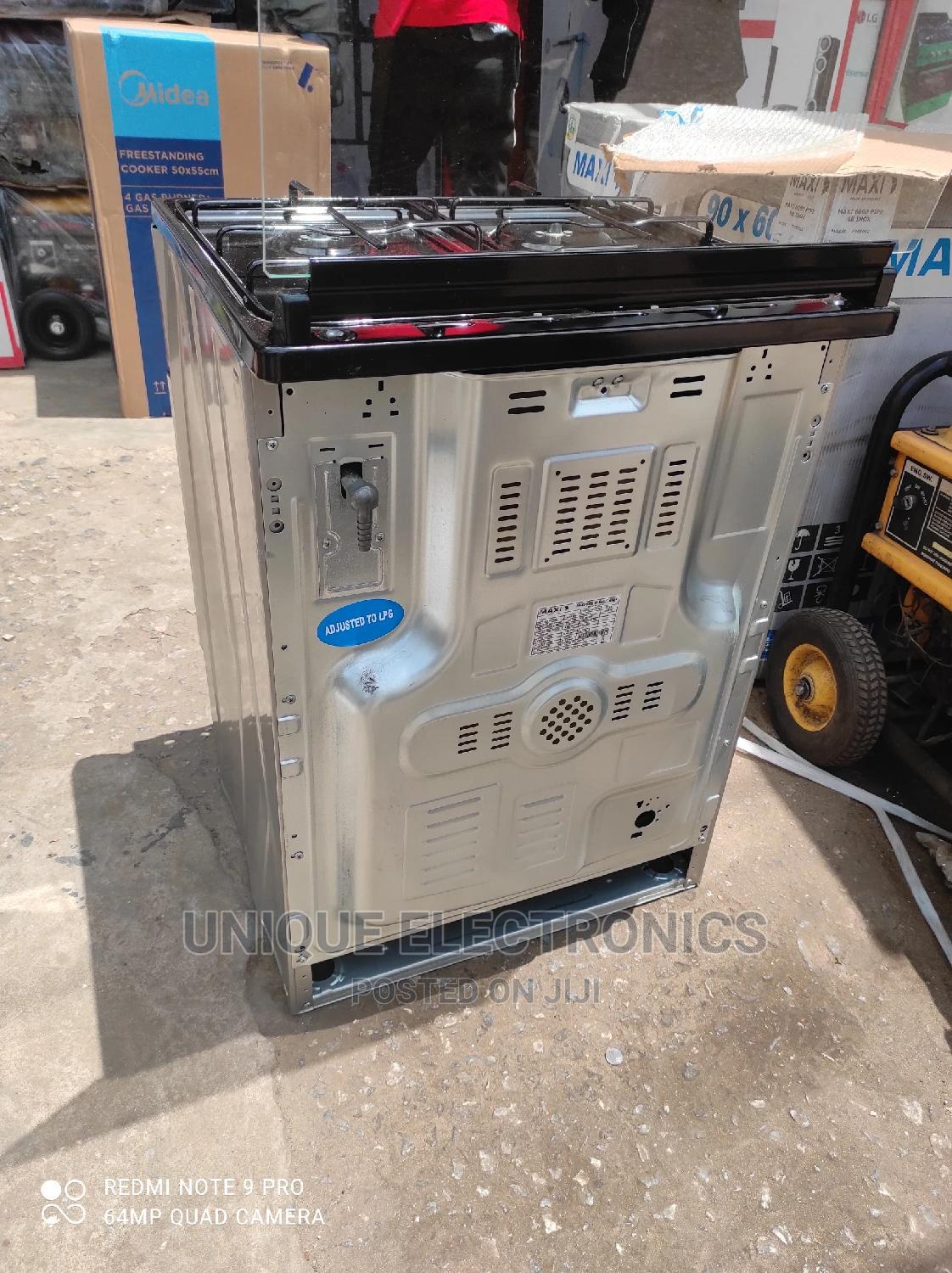New Maxi Gas Cooker 4 Gas Auto Ignition Cooker + Oven Grill | Kitchen Appliances for sale in Ojo, Lagos State, Nigeria