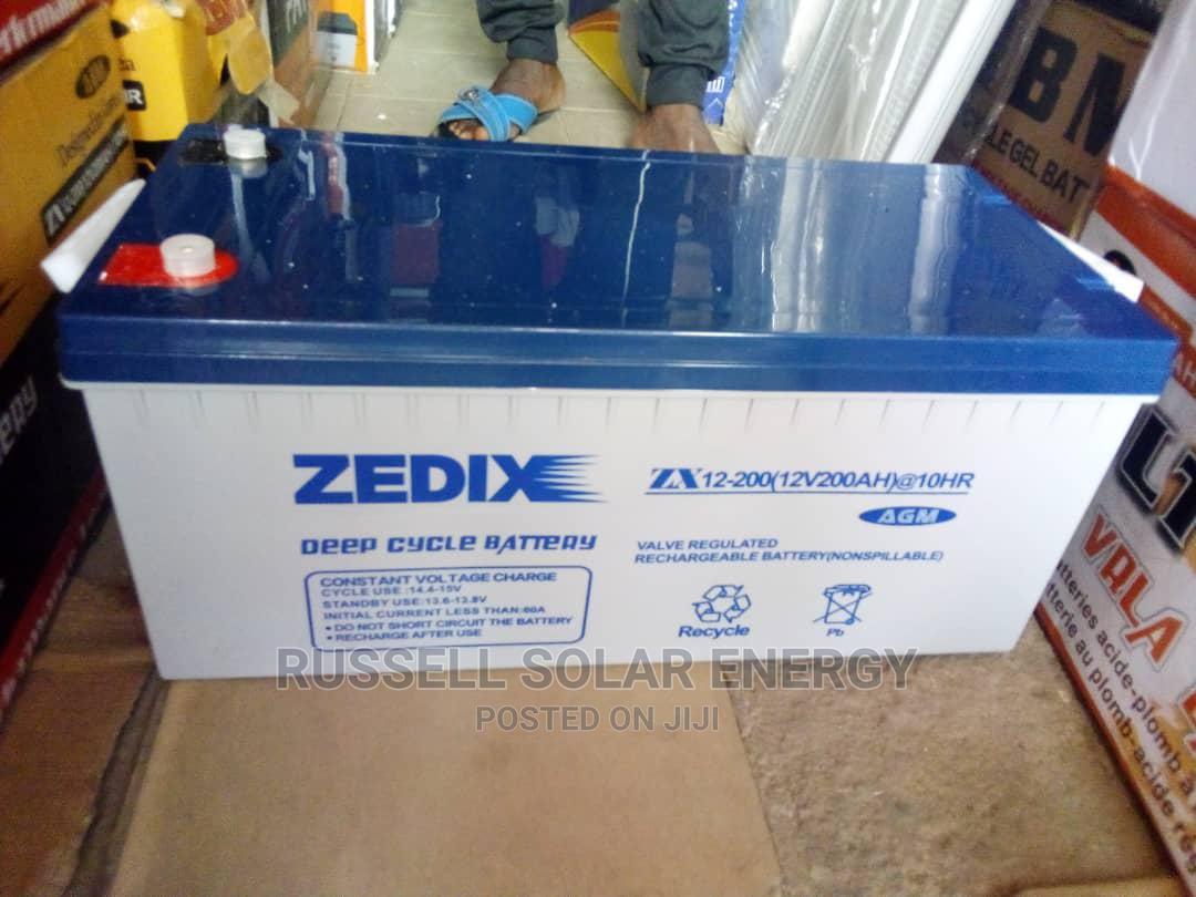 Archive: 12v 200ahs Zedix Solar Battery Available