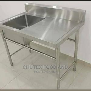 Single Bowl With Side Industrial Sink | Restaurant & Catering Equipment for sale in Lagos State, Ojo