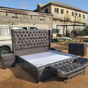 Padded Leather Bed | Furniture for sale in Lagos State, Lekki