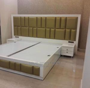 6/2 by 6, Padded Bed Frame. With a Side Drawer | Furniture for sale in Lagos State, Ajah