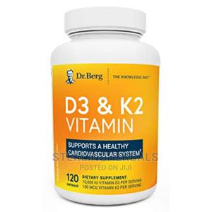 Dr. Berg's D3 K2 Vitamin (120 Capsules) | Vitamins & Supplements for sale in Lagos State, Yaba