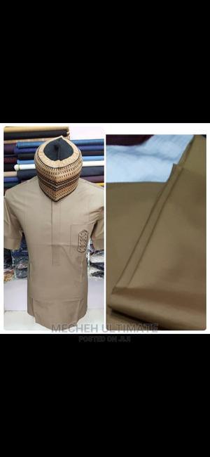 4 Yards Senator Material, Catorn Brown Plain | Clothing for sale in Lagos State, Lagos Island (Eko)