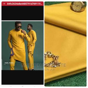 4 Yards Senator Material, Plain Yellow   Clothing for sale in Lagos State, Lagos Island (Eko)