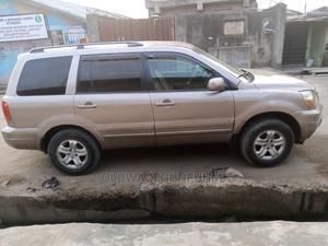 Honda Pilot 2004 EX 4x4 (3.5L 6cyl 5A) Gold   Cars for sale in Lagos State, Ejigbo