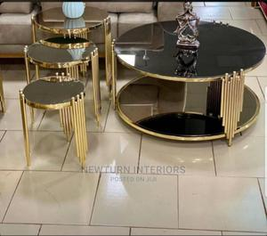 Luxury Gold of Table and Stools. | Furniture for sale in Lagos State, Lagos Island (Eko)
