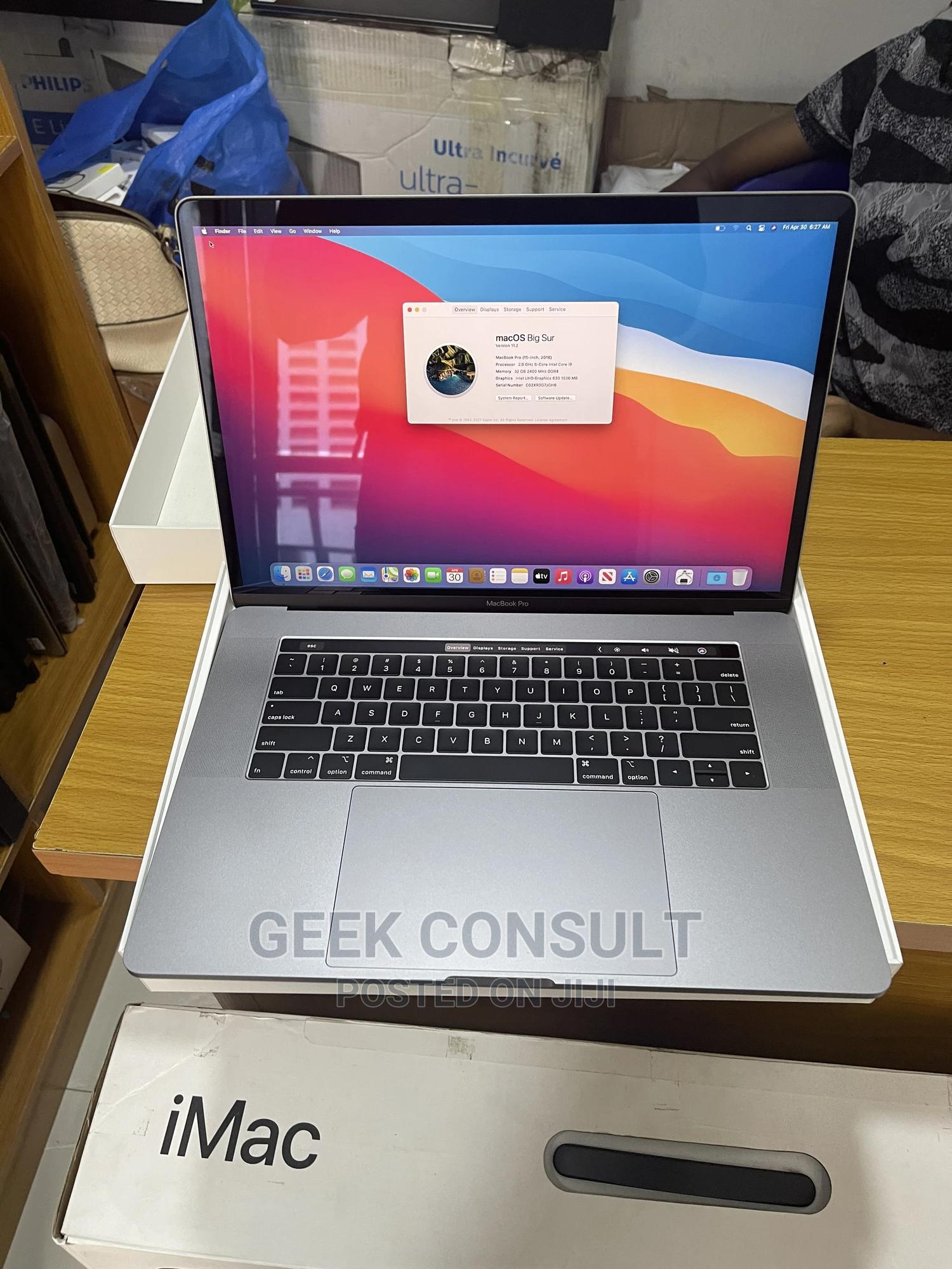 New Laptop Apple MacBook Pro 2018 32GB Intel Core I9 SSD 2T | Laptops & Computers for sale in Lekki, Lagos State, Nigeria