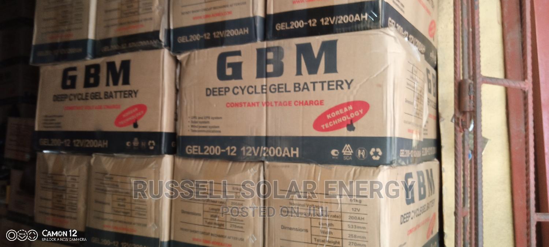 Archive: 12v 200ahs GBM Solar Battery Available