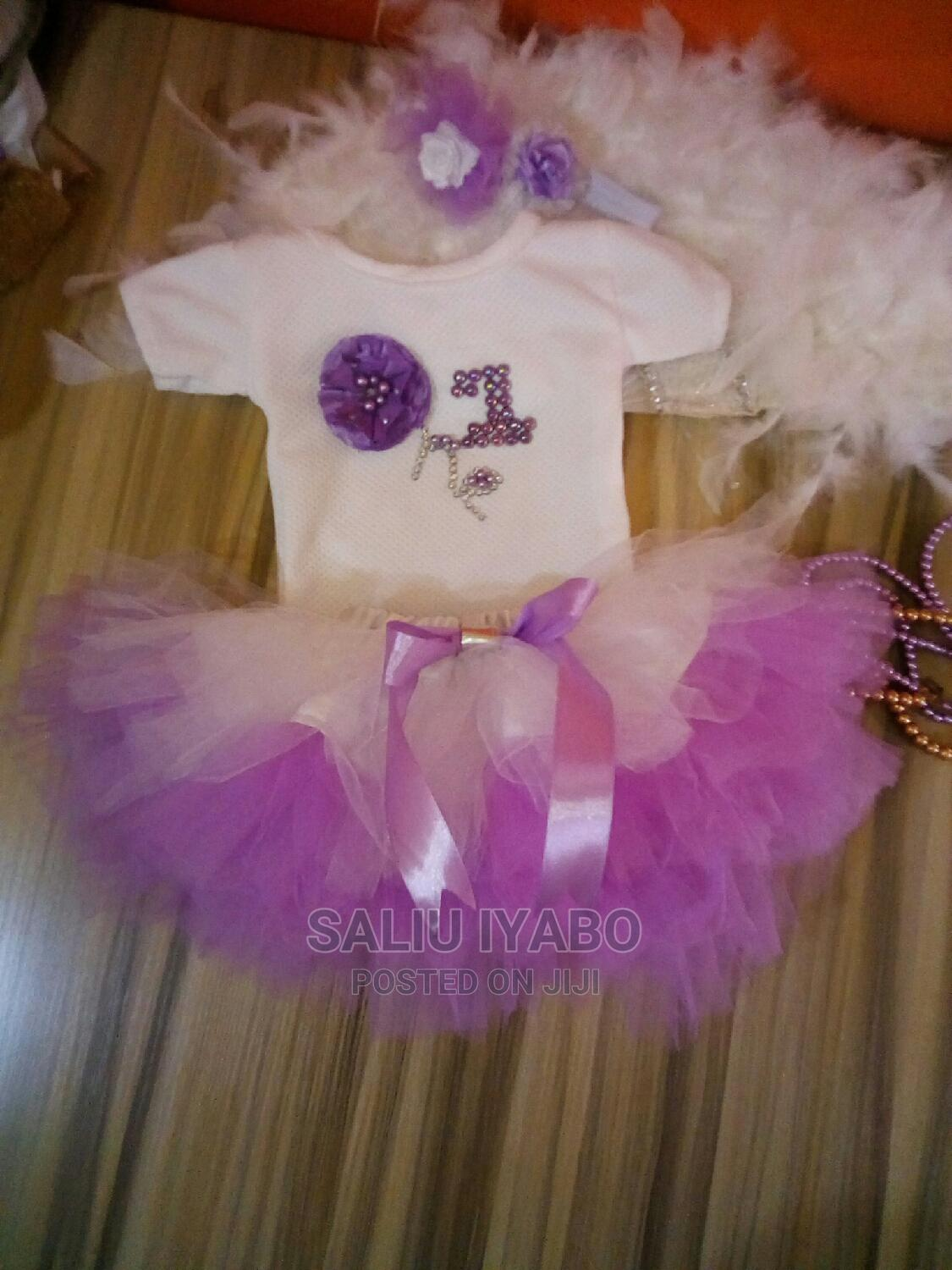 Archive: White Top With Lilac Tutu, and Headband