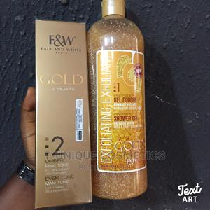 Fair White Gold 2 Maxi Tone Body Lotion Gold Shower Gel | Skin Care for sale in Lagos State, Ikorodu
