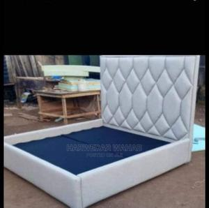 Padded Leather Bed Frame   Furniture for sale in Lagos State, Mushin