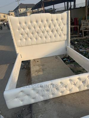 6by6 Upholstery Bed Frame With Footrest | Furniture for sale in Lagos State, Lekki