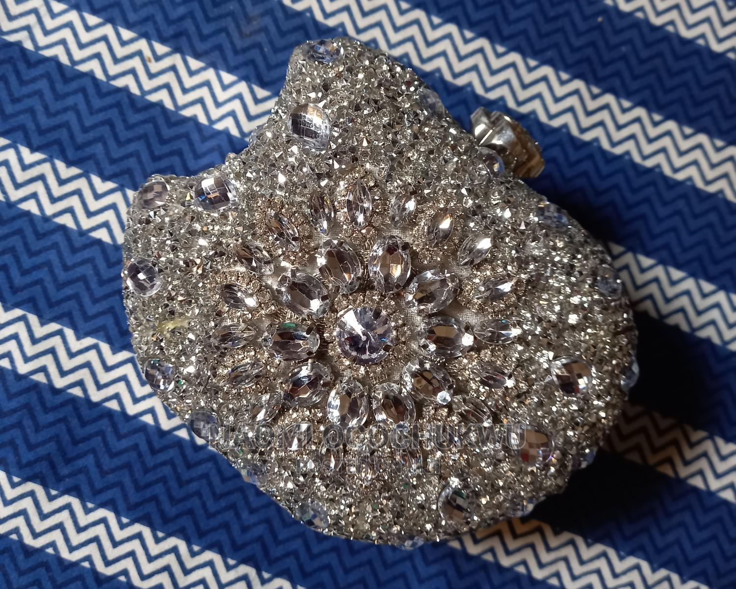 Silver Stoned Clutch Bag | Bags for sale in Ojo, Lagos State, Nigeria