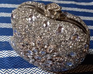 Silver Stoned Clutch Bag | Bags for sale in Lagos State, Ojo
