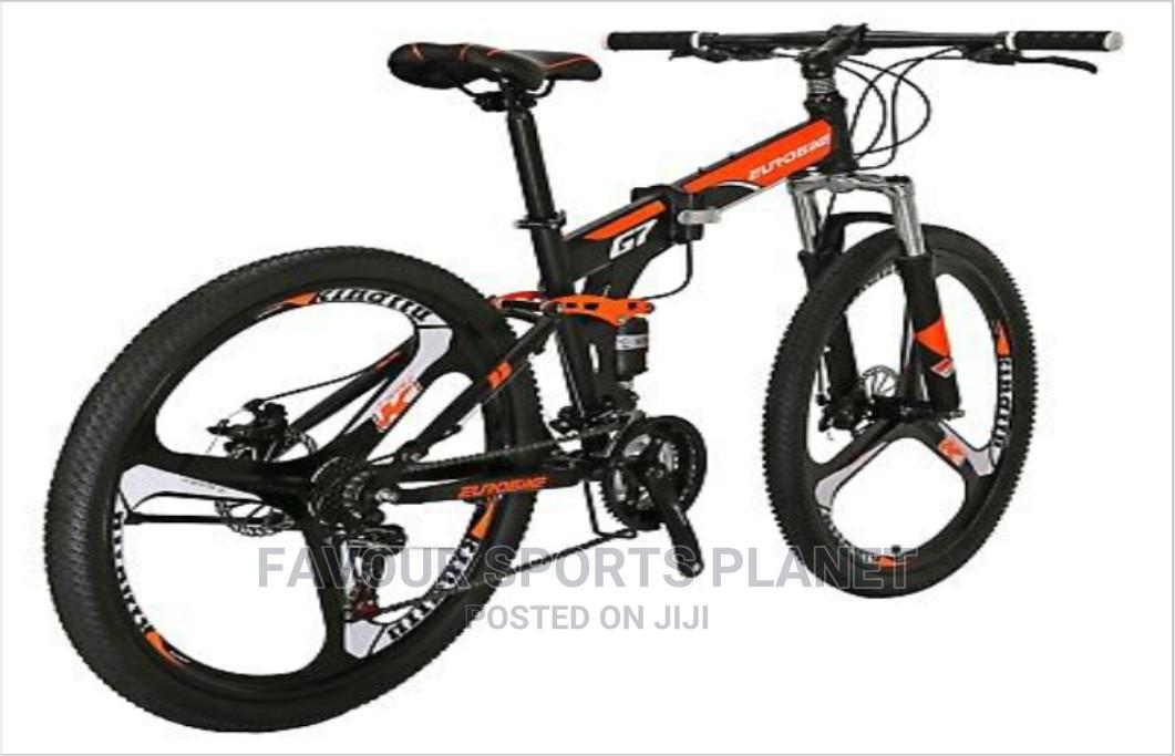 Alloy Rim Folding Mountain Bike Wit 21 Speed Full Suspension   Sports Equipment for sale in Port-Harcourt, Rivers State, Nigeria