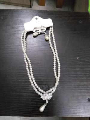 Pearl Necklace and Earrings   Jewelry for sale in Lagos State, Yaba