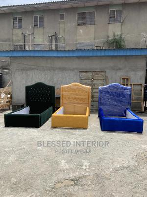 4/By6 Upholstery Bed Frame   Furniture for sale in Lagos State, Ajah