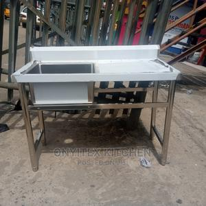Stainless Steel Sink With Side | Plumbing & Water Supply for sale in Lagos State, Ojo